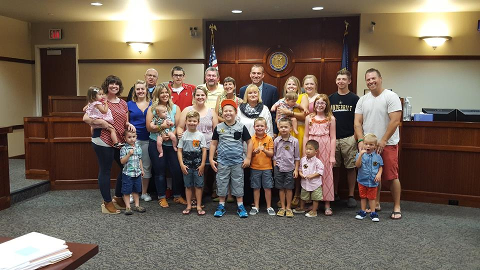 Families at adoption day