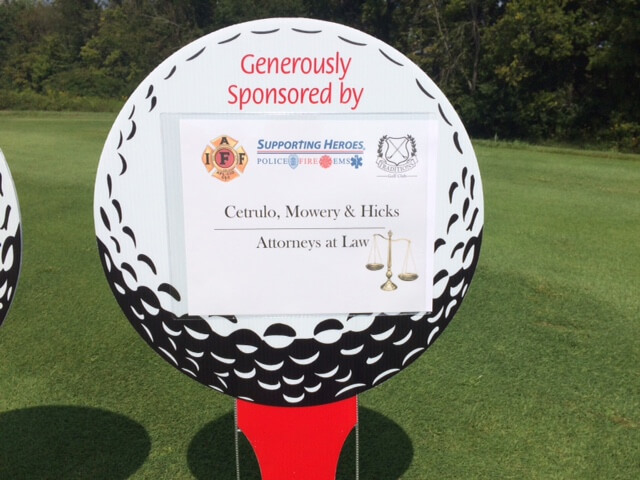 Sponsorship sign from Northern Kentucky Chamber of Commerce golf outing